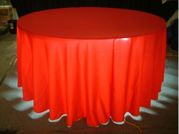 Picture of Tablecloth Red  3.3m round