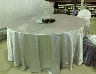 Picture of Tablecloth Silver Grey Satin  3.3m round