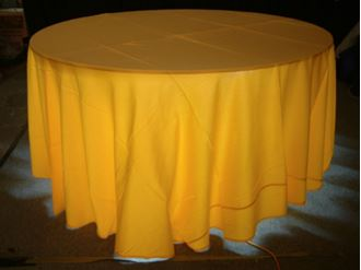 Picture of Tablecloth Yellow 3.3m round