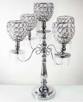 Picture of Candelabra - 5 branch Crystal style