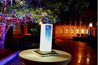 Picture of Centrepiece LED Cylinder Branded