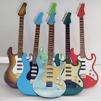 Picture of Guitar Paper Mache