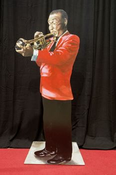 Picture of Cutout Jazz Band Trumpet Player