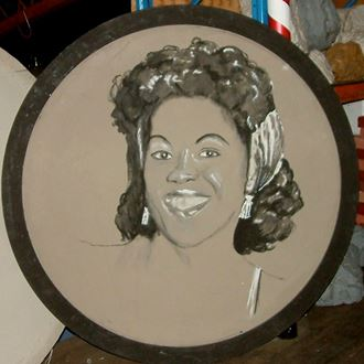 Picture of Jazz Portrait Sarah Vaughan 1.8m round