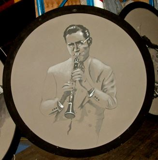Picture of Jazz Portrait Benny Goodman 1.8m round
