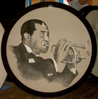 Picture of Jazz Portrait Louis Armstrong 1.8m round