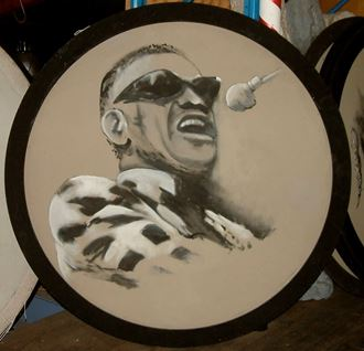 Picture of Jazz Portrait Ray Charles 1.8m round