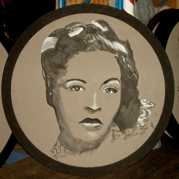 Picture of Jazz Portrait Billie Holiday 1.8m round
