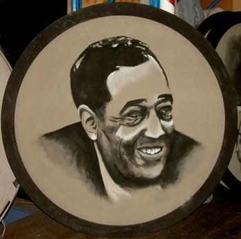 Picture of Jazz Portrait Duke Ellington 1.8m round