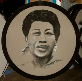 Picture of Jazz Portrait Ella Fitzgerald 1.8m round
