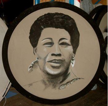 Picture of Jazz Portrait Ella Fitzgerald 1.8m round