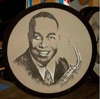 Picture of Jazz Portrait Charlie Parker 1.8m round