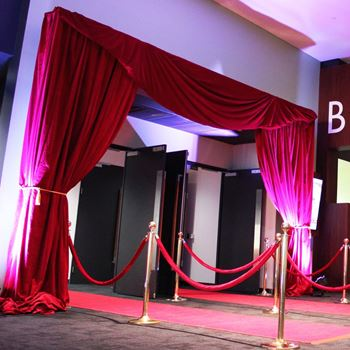 Picture of Red Velvet Curtain Entrance