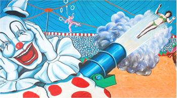 Picture of Backdrop Circus Human Cannonball