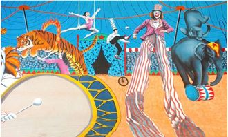 Picture of Backdrop Circus performers