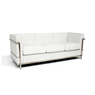 Picture of Le Corbusier Replica White Lounge 3 Seat