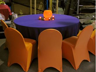 Picture of Tablecloth Purple 3.3m round