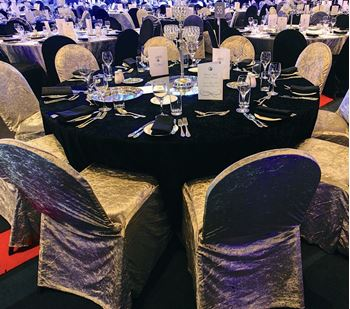 Picture of Tablecloth Black Velvet 3.3m round