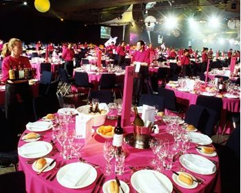Picture of Tablecloth Pink 3.3m round