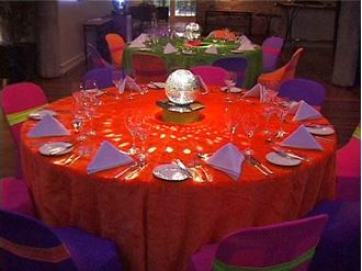 Picture of Tablecloth Orange Faux Fur 3m sq