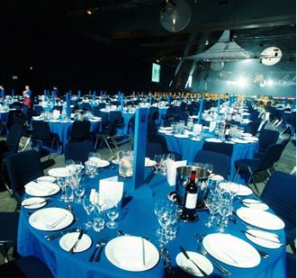 Picture of Tablecloth Royal Blue 3.3m round