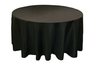 Picture of Tablecloth Black 3.3m round