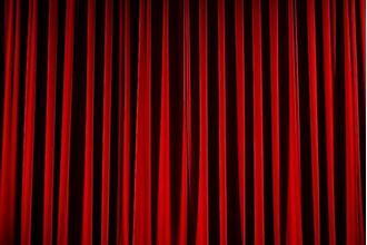 Picture of Red Velvet Curtains