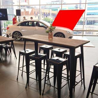 Picture of Bar / Tapas Table Black Tolix Style 1.5m L