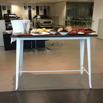 Picture of Bar / Tapas Table White Tolix Style 1.5m L