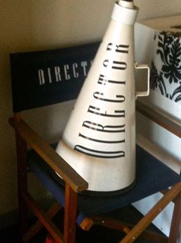 Picture of Director Chair and Megaphone