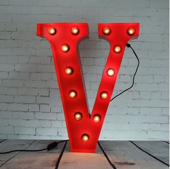 Picture of Marquee Letter-V