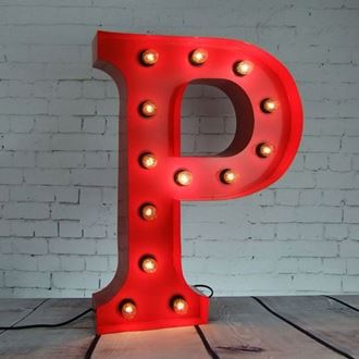 Picture of Marquee Letter - P