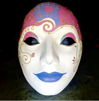 Picture of Mask - Pink / Blue Lip