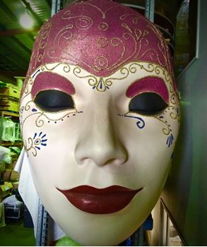 Picture of Mask - Pink / Red Lip