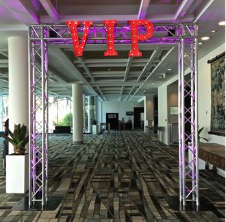 Picture of VIP truss entrance