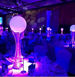 Picture of Glow Sphere Centrepiece on Acrylic Tower
