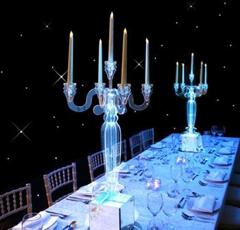 Picture of Acrylic Candelabra with LED Light base
