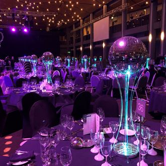 Picture of Mirrorball Table Centrepiece on Acrylic Tower