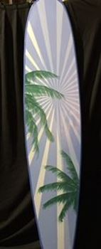 Picture of Surfboard Cutout 9 - Blue with palm tree