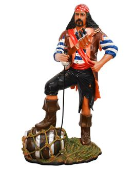 Picture of Pirate Statue with barrel 1.87mH