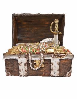 Picture of Replica Pirate Treasure chest with treasure