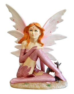 Picture of Fairy Statue - Pink with Dragon