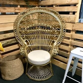 Picture of Peacock Chair - gold