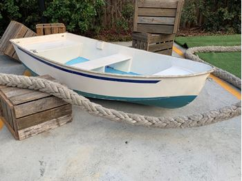 Picture of Dinghy- blue and white fibreglass 2.4m L X 1.2m W