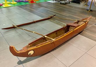Picture of Outrigger Canoe - Wooden