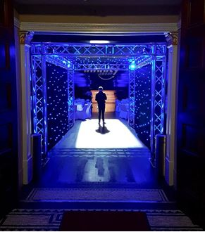 Picture of LED Star Curtain Tunnel Entrance 6m x 4m