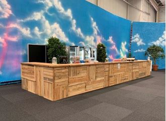 Picture of Bar Rustic Wooden  9.6m Long