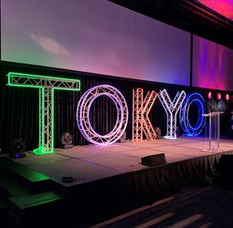 Picture of TOKYO NEON Olympics sign 2m h x 9 m w