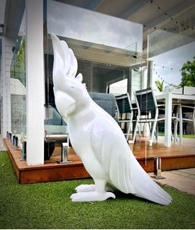 Picture of Cockatoo - white fibreglass statue 800mm h