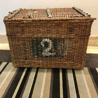 Picture of Vintage wicker cane trunk/basket